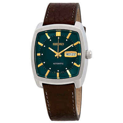 Seiko ReCraft Automatic Green Dial Brown Leather Men's Watch SNKP27 (Automatic Brown Dial Watch)