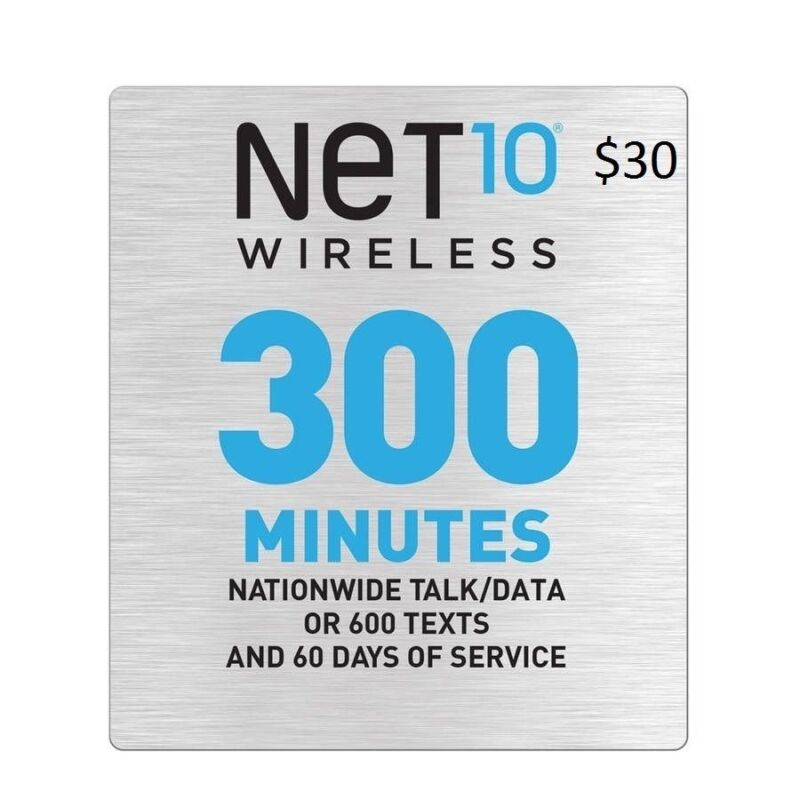 Net10 $30 Refill: 300 Minutes / 60 Days, fast & right
