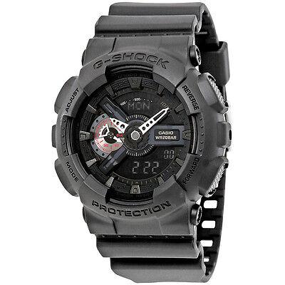 Casio G-Shock Analog-Digital Black Resin Mens Watch GA110MB-1A
