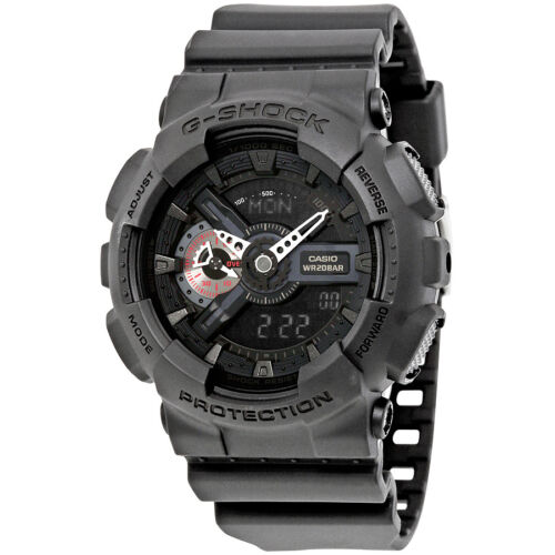 Casio G-Shock Analog-Digital Black Resin Mens Watch GA110MB-1A
