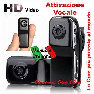 MINI DV VIDEOCAMERA MICRO TELECAMERA ON-BOARD SPORT CASCO SOFT MD 80 WEBCAM SPY
