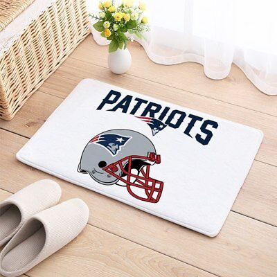 New England Patriots Door Mat Natural Cotton Floor Anti Slip -