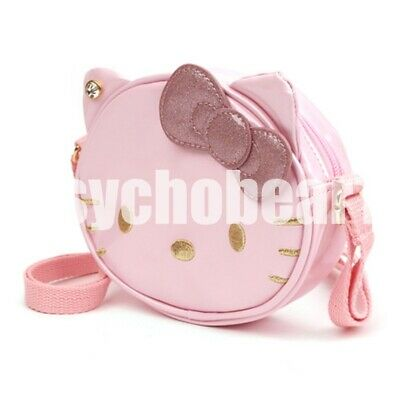 Hello Kitty Lovely Face Cross Body Bag Kids Girls Cute Design Light Pink