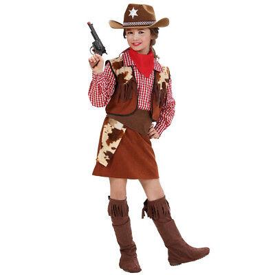COWGIRL KOSTÜM KINDER Karneval Fasching Cowboy Western Rock Weste Mädchen # 5881 ()