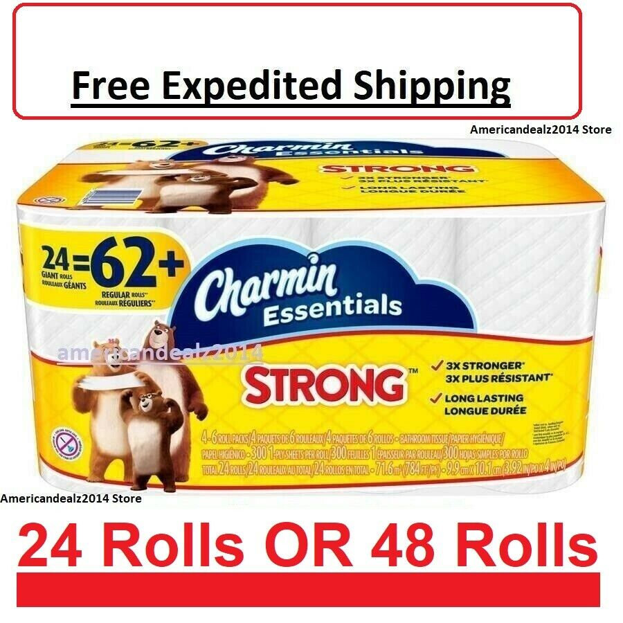 Charmin Essentials Strong Toilet Paper Bath Tissue Giant Rol