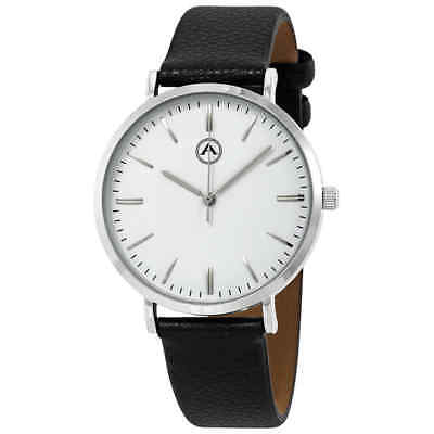 Alba by Akribos White Dial Leather Men's Watch 1033SS
