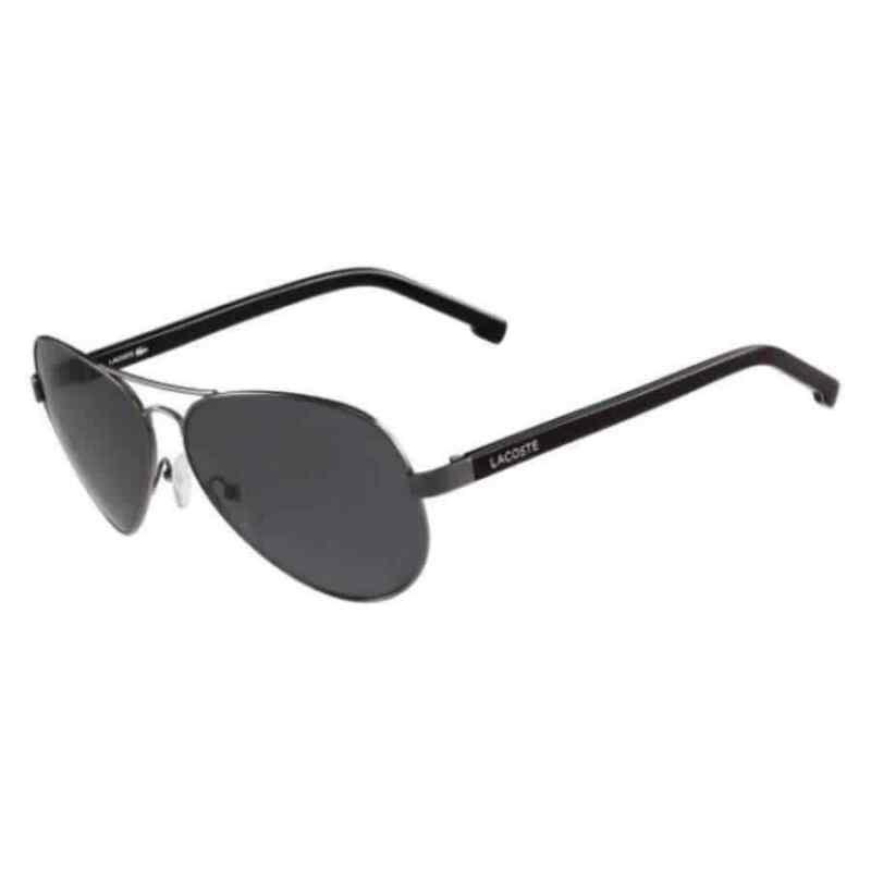 Lacoste Unisex Gunmetal Aviator/Pilot Polarized Sunglasses L163SP03362