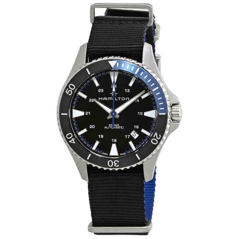 Hamilton Khaki Scuba Automatic Black Dial Batman Bezel Men Watch H82315931