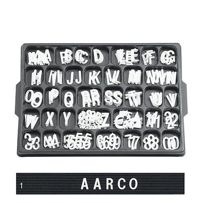 1 White Changeable Sign Plastic Letters Menuboard