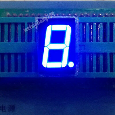 10pcs 0.56 Inch 1 Digit Led Display 7 Seg Segment Common Cathode Blue 0.56