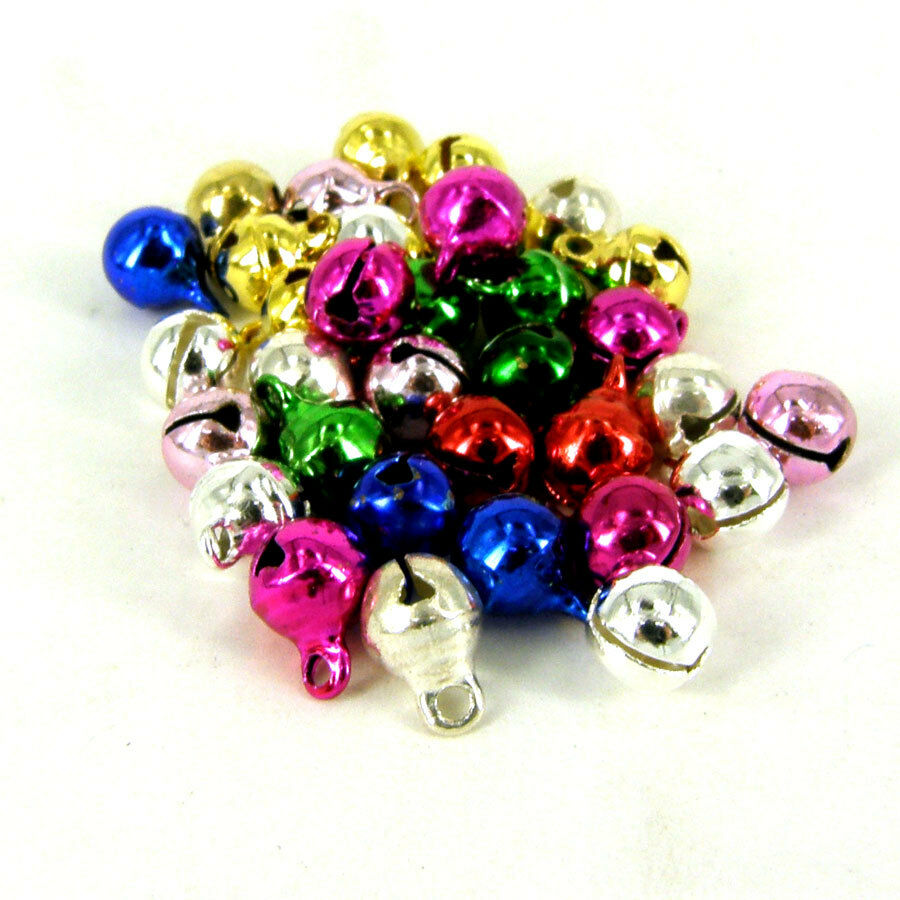 6mm silver or  mixed or gold  jingle bells Charm Christmas Pendant 100 pcs