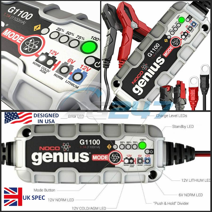 NOCO G1100UK 6V//12V 1.1 Amp Smart Battery Charger and Maintainer