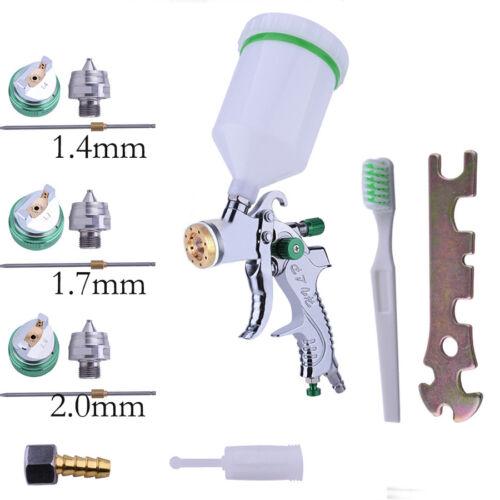 HVLP Auto Paint Spray Air Gun 1.4MM~2.0MM Car Nozzle Kit Gravity Feed Primer
