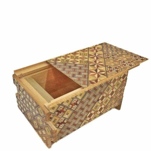 Japanese Hand Made Yosegi Puzzle Box 4 sun 14 steps
