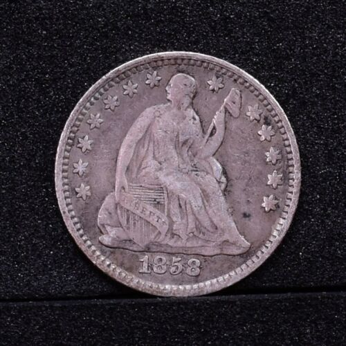 1858 Half Dime - Over Inverted Date - VG-F (#28975)