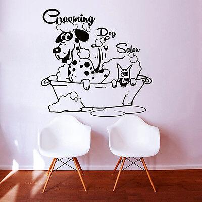Dog Wall Decals Grooming Salon Decal Vinyl Sticker Pet Shop Home Decor Art MN480 - Salon Decorations