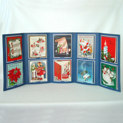 1950s Salesman Sample Christmas Cards Fold Out Display Book