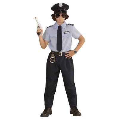 KINDER POLIZISTEN KOSTÜM & MÜTZE Karneval Polizei Polizist - Jungen Cop Kostüme