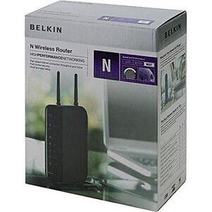 belkin n wireless router f5d8236 4 ebay. Black Bedroom Furniture Sets. Home Design Ideas