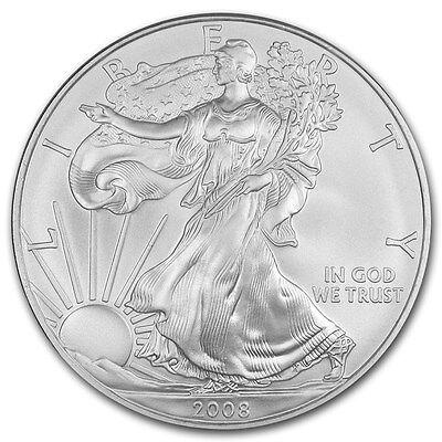 American Silber Silver Eagle 2008 1 oz 999 Feinsilber Silber Münze US Mint NEU