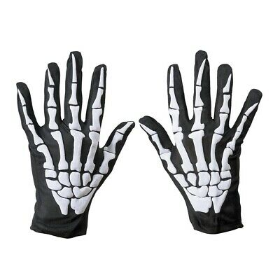 SKELETT KNOCHEN HANDSCHUHE # Tod Zombie Sensenmann Halloween Kostüm Party 8526