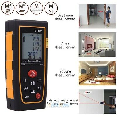 100m328ft Digital Laser Distance Meter Range Finder Measure Tape Diastimeter Us