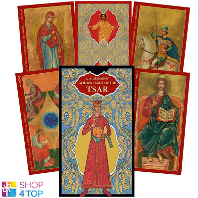GOLDEN TAROT OF THE TSAR DECK CARDS ORACLE ESOTERIC TELLING LO SCARABEO NEW