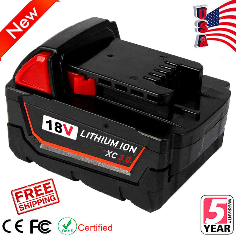 18V for Milwaukee 48-11-1850 Li-ion Battery M18 XC 5.0 Lithi