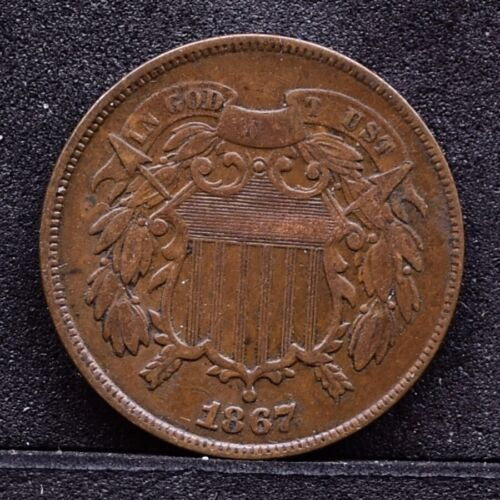 1867 Two Cent Piece - VF (#30962)