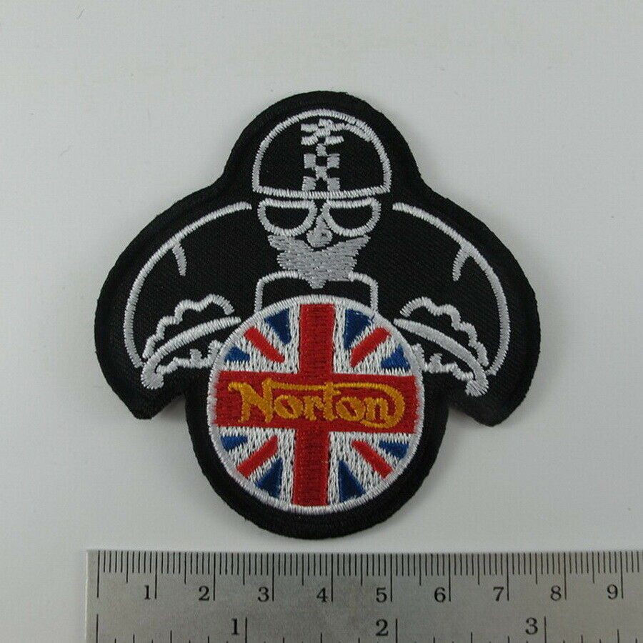 EMBROIDERED IRON ON PATCH  NORTON MOTORRAD BIKER T-SHIRT Jean Cap Free Shipping