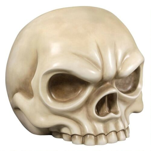 Gothic Skull Bone Colored Chair Oversized Skeleton Home Bar Ebony Lounger