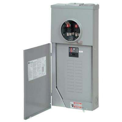 Eaton 200-Amp Outdoor Main Breaker Panel Electrical Meter 40-Circuit 20-Space