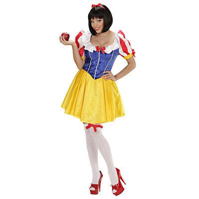 DAMEN SCHNEEWITTCHEN KOSTÜM # Karneval Fasching Märchen Zwerge Film Party Kleid ()
