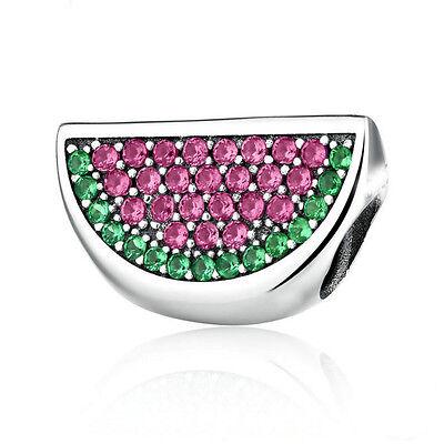 European Silver CZ Charm Beads Fit sterling 925 Necklace Bracelet Chain #595