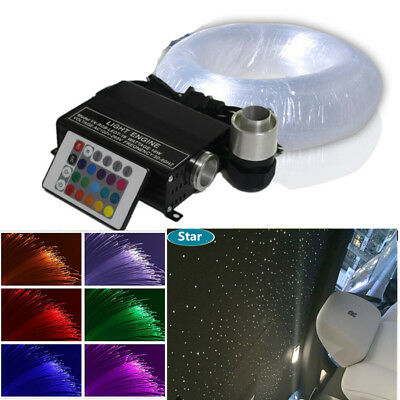 300PCS Optic Fiber LED Car RGB Dome Tongue-lash Ceiling Decoration Stars for Christmas