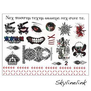 tokyo ghoul gro er tempor rer tattoo aufkleber t towierung hauttattoo kaneki ken ebay. Black Bedroom Furniture Sets. Home Design Ideas