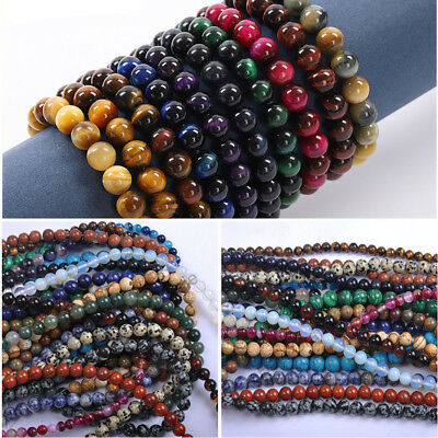 Wholesale Natural Gemstone Round Spacer Loose Beads For Bracelets Jewelry Making - Jewelry Craft