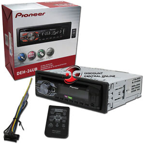 PIONEER DEH-24UB IN DASH CAR WMA\MP3\CD PLAYER IPOD IPHONE W/ USB AUX IN REMOTE