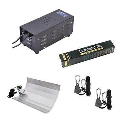 LumenLite 250w Metal Hydroponics Light Kit & Heavy Duty Rope Ratchets