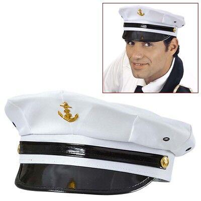 MARINE OFFIZIER MÜTZE Seemann Matrose Admiral Kapitän Hut Kostüm Party Deko 9516