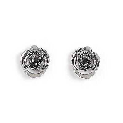 Jody Coyote Earrings JC0162 new Florette Collection FLO-0115-01 rose stud black