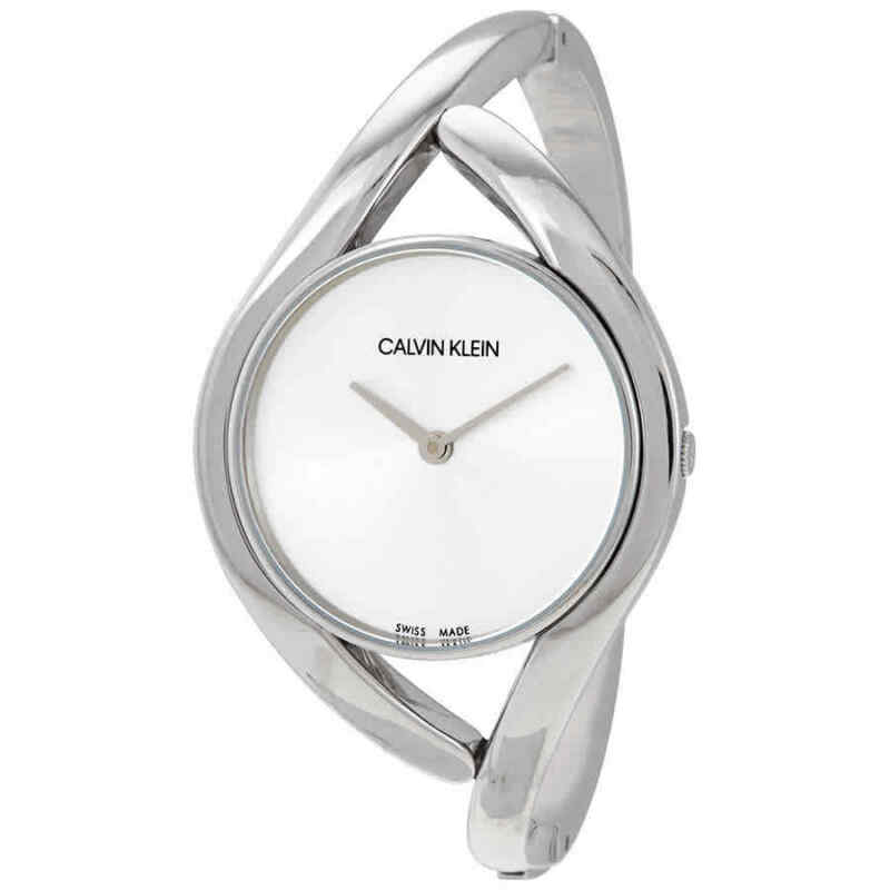 Calvin Klein Party Small Silver Dial Bangle Ladies Watch K8U2S116