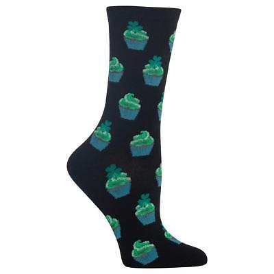 Irish Cupcakes Hot Sox Women's Crew Socks New Novelty St Patrick's Fashion