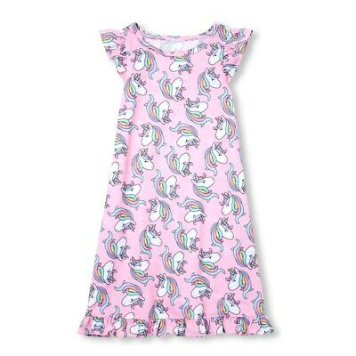 NWT The Childrens Place Girls Pink Unicorn Sleeveless Nightgown Pajamas - Unicorn Pjs