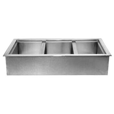 Wells Icp-300 Built-in Three - 12 X 20 Bay Non-refrigerated Cold Well
