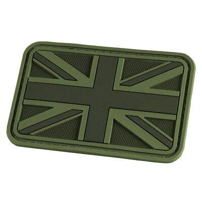 HAZARD 4 UNION JACK UK FLAG MORALE PATCH ENGLISH BADGE MILITARY OD GREEN