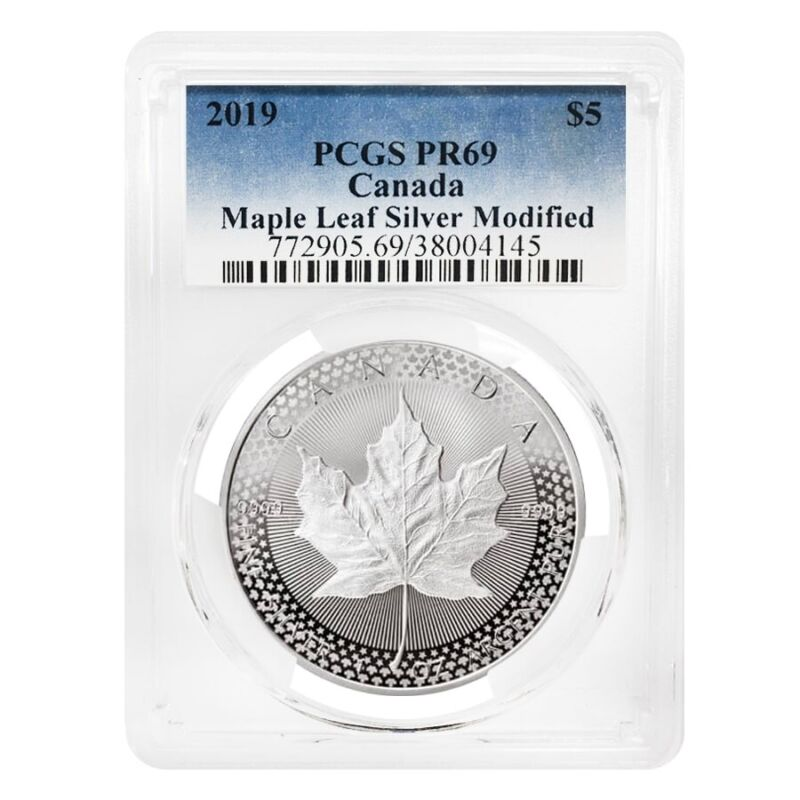 Sale Price- 2019 1oz Modified Proof Silver Maple PCGS PF 69 Pride of Two Nations