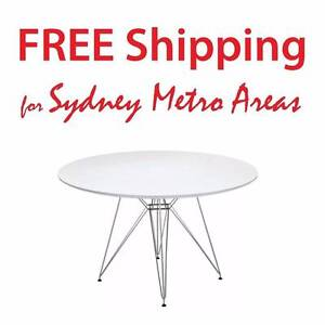 SALE - Eames Eiffel Style Steel Dining Table (dia 120cm) Zetland Inner Sydney Preview