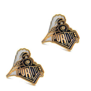 PURDUE BOILERMAKERS POST STUD EARRING CHARM PENDANT JEWELRY LOGO EAR NCAA TRAIN