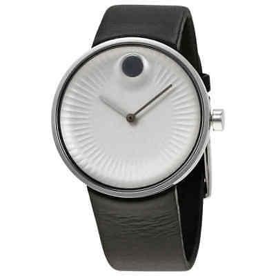 Movado Edge Silver Aluminum Dial Men's Watch 3680001